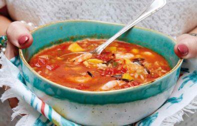 Caribbean Prawn & Mango Soup