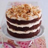Peanut Butter & Popcorn Layer Cake
