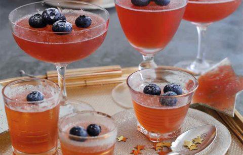 Sparkly Sloe Gin Jellies