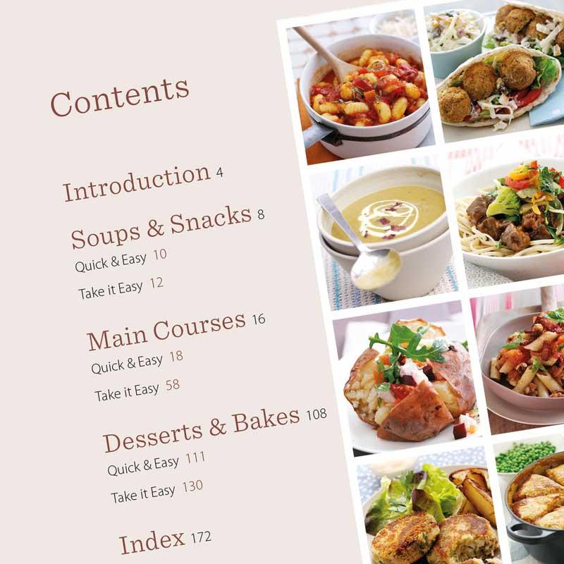 Fantastic Food For Less cookbook contents