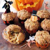 Halloween Pumpkin Streusel Muffins