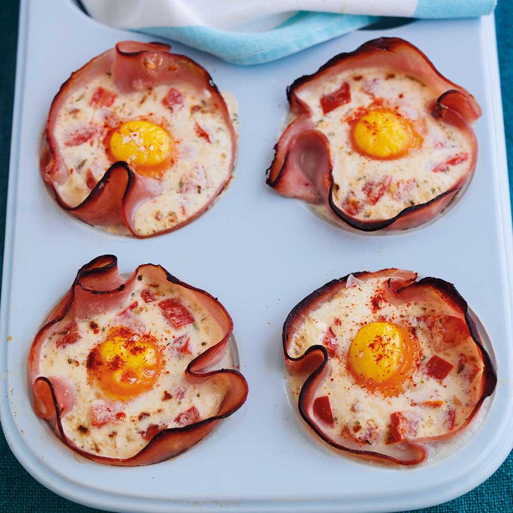 Baked Ham & Eggs