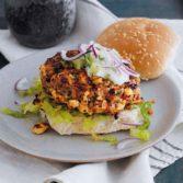 Harissa Lamb Burgers with Feta