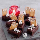 Trick & Treat Brownie Graveyard Bars