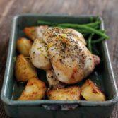 Lemon & Thyme Roast Poussin and Potatoes