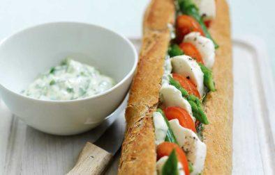 Mozzarella & Asparagus Baguette
