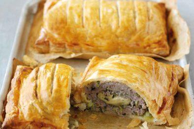 Sausage & Artichoke Rolls