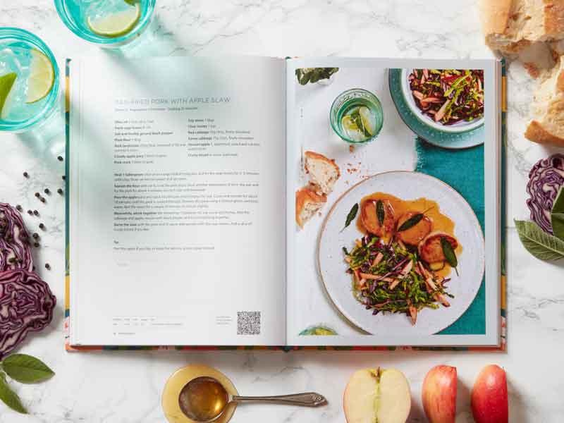 A Zest For Life cookbook apple slaw recipe