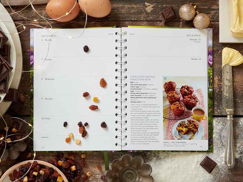 Chocolate Orange Buns from Dairy Diary 2021