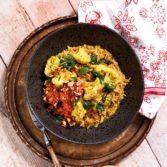 Cauliflower Biriyani with Sweet Carrot Relish