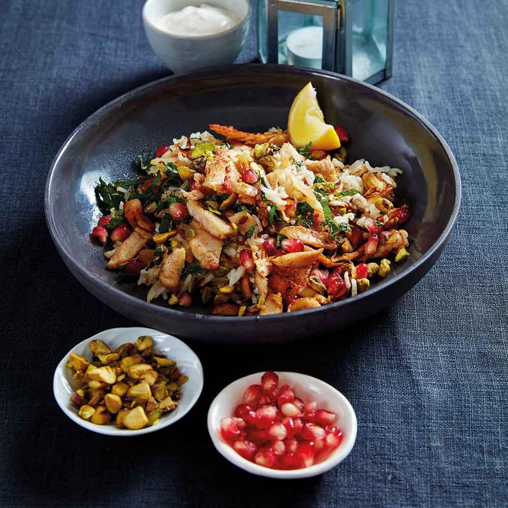Tahini Turkey with Persian Rice