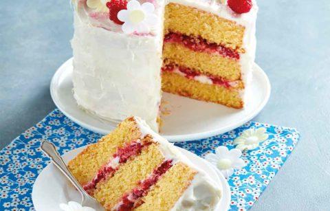Almond & Raspberry Celebration Cake
