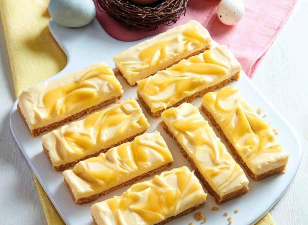 Easter Lemon and White Chocolate Slice