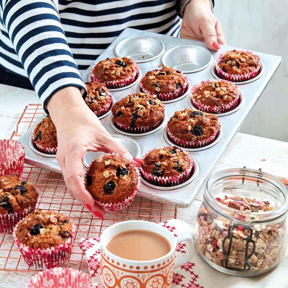 Berry, Granola & Banana Muffins