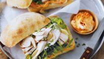 Chicken, Almond and Basil Sandwiches