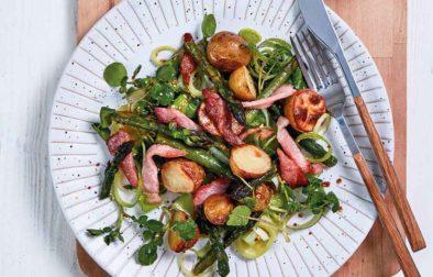 Hot Roast Asparagus & Potato Salad