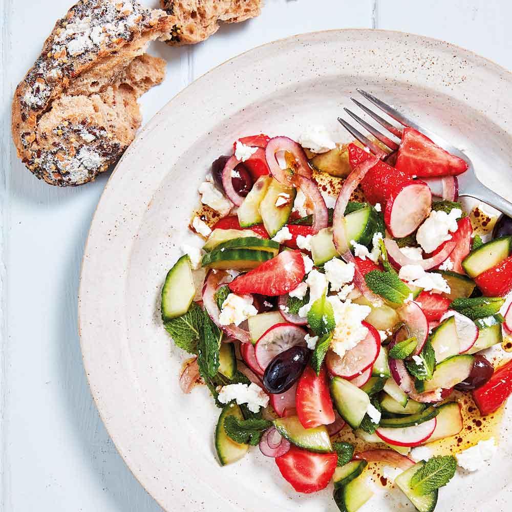 Feta & Strawberry Salad