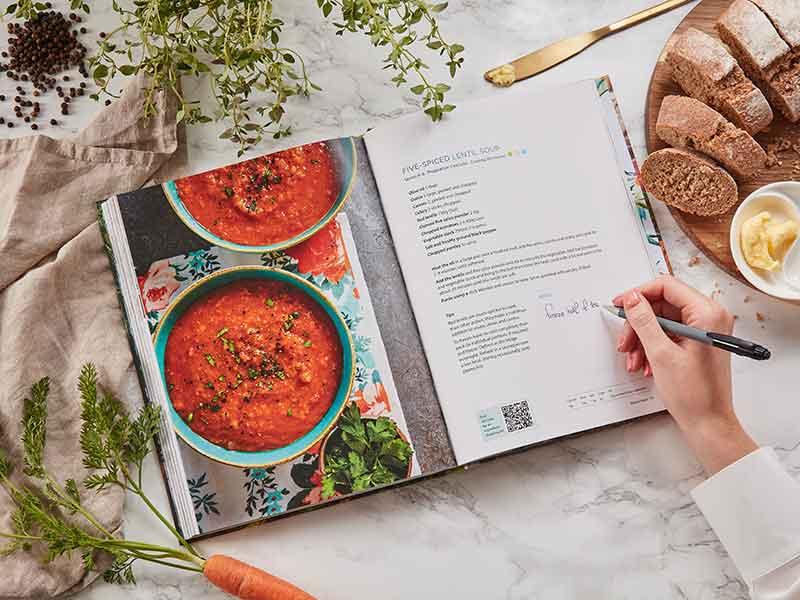 More Taste & less Waste cookbook lentil soup