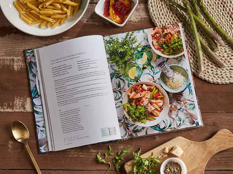 More Taste & less Waste cookbook salmon pasta