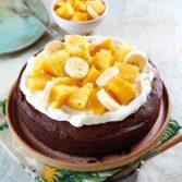 Tropical Flourless Chocolate Truffle Cake