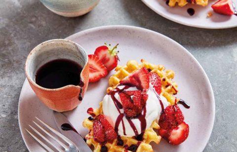 Merry Strawberry Waffles