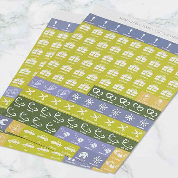 Dairy Diary stickers